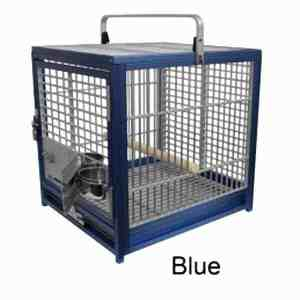 Aluminum Travel Cage for Medium Birds by King's Cages ATS1719 Red