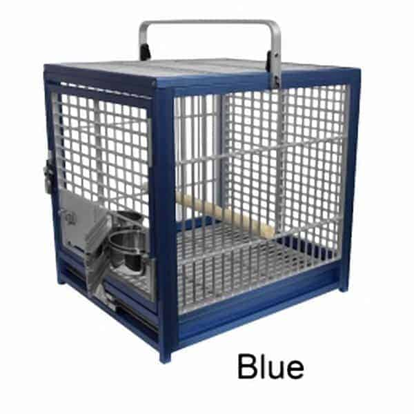 Aluminum Travel Cage for Medium Birds by King's Cages Blue ATS1719