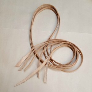 Leather Strips Vegetable Tanned Bird Safe 1/4″ x 48″ 3 pc