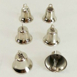 Liberty Bells for Bird Toys Nickel Plated 25 mm 6 pc