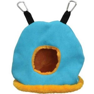 Warm Snuggle Sack for Birds by Prevue Medium Blue