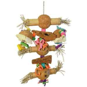 Bodacious Bird Toy for Large Parrots – Bamboo Shoots