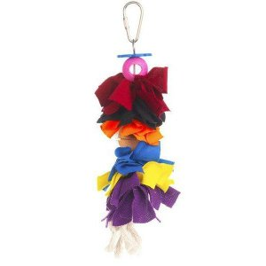 Prevue Calypso Creations Bird Toy for Small Parrots – Bow Dangles
