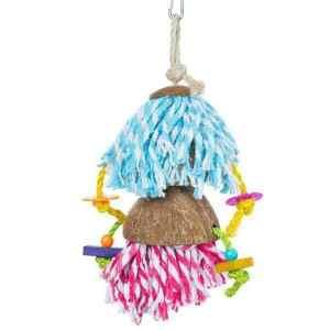 Prevue Calypso Creations Bird Toy for Preening Parrots – Car Wash