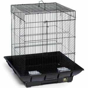 Clean Life Flat Top Bird Cage for Small Birds 850 Black