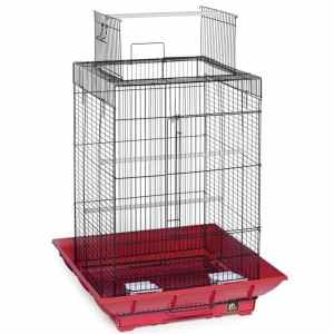 Clean Life Open Top Bird Cage for Small Birds 851 Red Black
