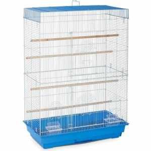 Indoor Aviary Flight Cage for Smallest Birds by Prevue 42614-3 Blue White