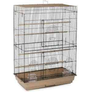 Indoor Aviary Flight Cage for Smallest Birds by Prevue 42614-4 Brown Black