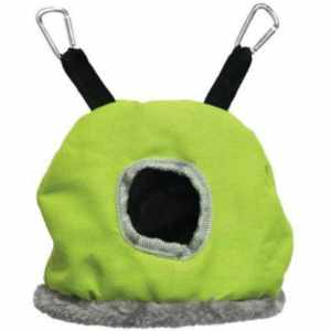 Warm Snuggle Sack for Birds by Prevue Small Green