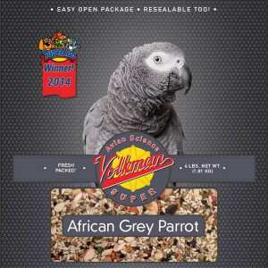 Volkman Avian Science Super African Grey Parrot Seed 4 Lb (1.8 Kg)