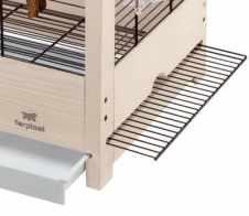 cage ferplas giulietta en bois avec grille