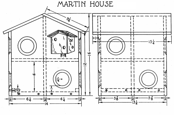 Purple Martin Bird House To Build For 8 Families With Free Plans