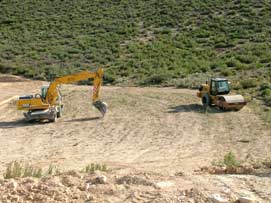 Bulldozers in the Monegros