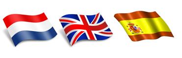 Dutch. British and Spanish flags