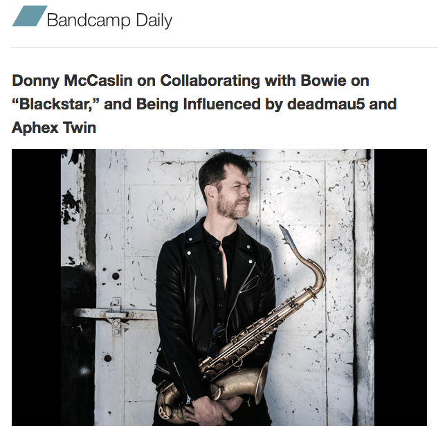 My interview of Donny McCaslin is up at The Bandcamp Daily – Bird is