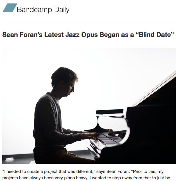 My interview of Sean Foran is up at The Bandcamp Daily