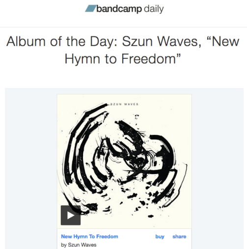 I wrote about the new Szun Waves album for The Bandcamp