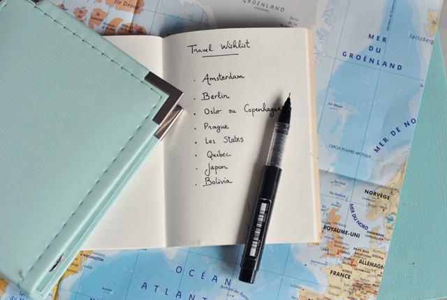 Wishlist de voyage