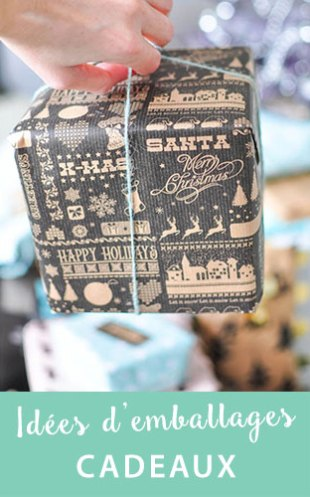 Des idées faciles pour décorer ses cadeaux de Noël sur le blog lifestyle Birds & Bicycles