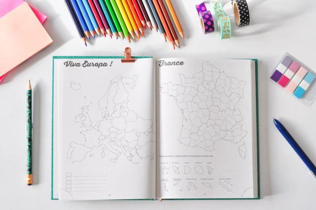 Des cartes géographiques pour colorier ses voyages dans My 365