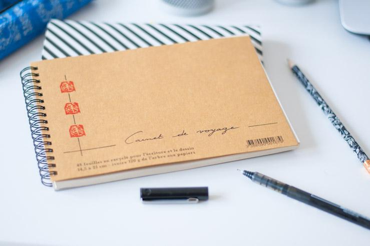 Carnet de voyage fabriqué en France