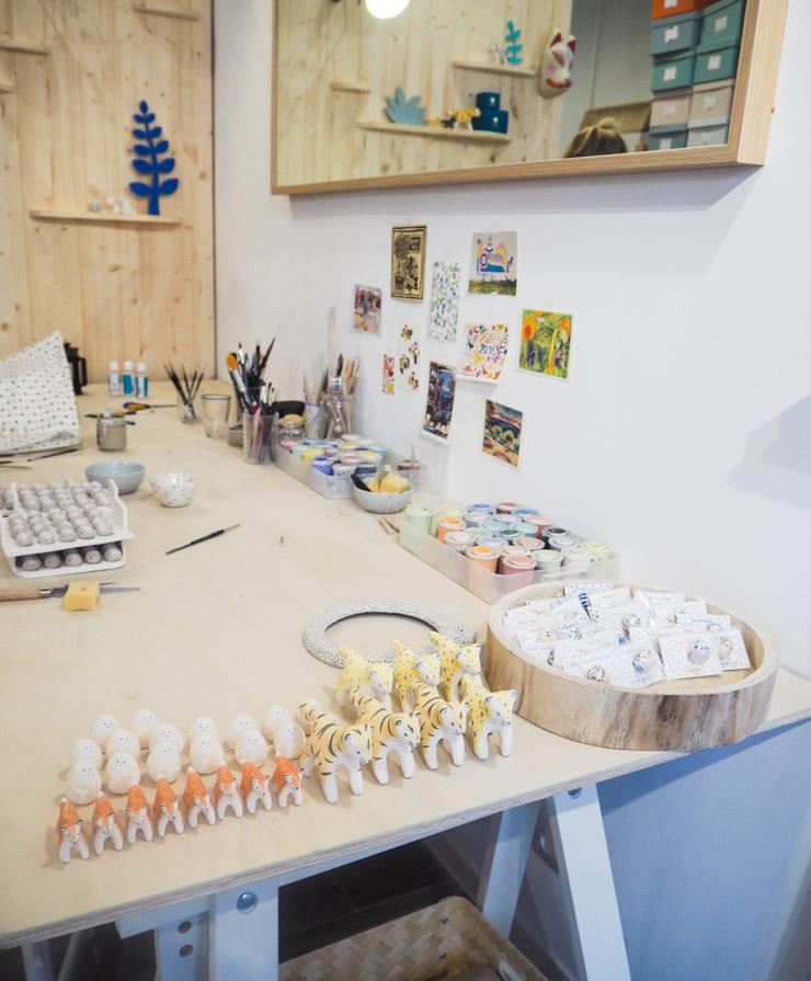 Boutique atelier de la céramiste Dodo Toucan à Paris