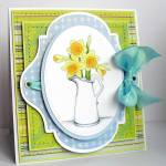jug of daffodils card