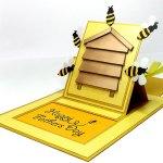 bee hive card 3