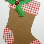 holly stocking tag