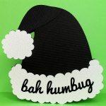 bah humbug hat card