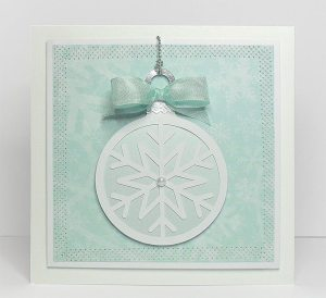 round bauble card