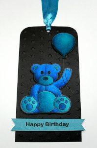 balloon teddy tag