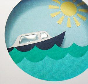 Boat Diorama Card 2