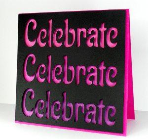 celebrate square card