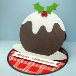 Christmas Pudding Easel Card 2