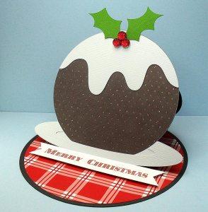 Christmas Pudding Easel Card 2
