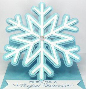 Snowflake Easel card 2
