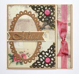 Oval Frame Mum Card 1