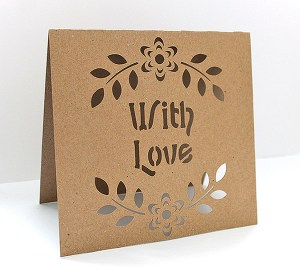with love inset card