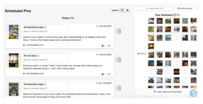 5 Ways to Rock Pinterest - A Guide for Travel Bloggers. 4. Pin consistently (with the help of a scheduler)
