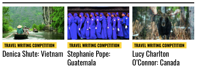 National Geographic Traveller Runners Up