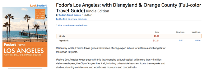 Fodor's Los Angeles guide