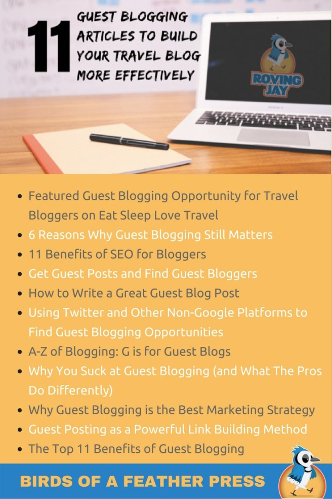 11 guest blogging articles to build your travel blog more effectively Pinterest Image