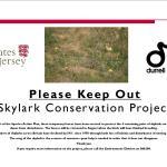 Skylark fence info poster