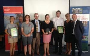 Winners receiving their awards