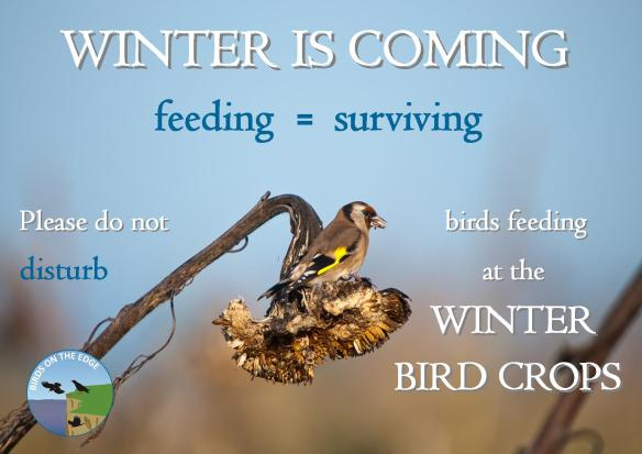 Winter is coming field sign. Birds On The Edge