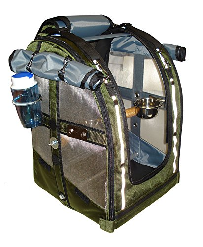 Olive color with Stainless Steel mesh Medium Size Celltei Pak-o-Bird