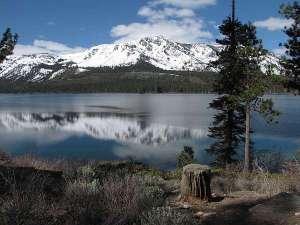 Mt Tallac reflecting in lake