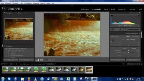 Bild: Adobe Lightroom 4 unter Windows 7 Professional 64 Bit auf dem Acer Aspire One 756. Klicken Sie auf das Bild um es zu vergrößern.