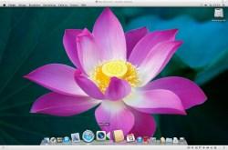 Bild: Der Desktopp von Mac OS X 10.7 Lion.